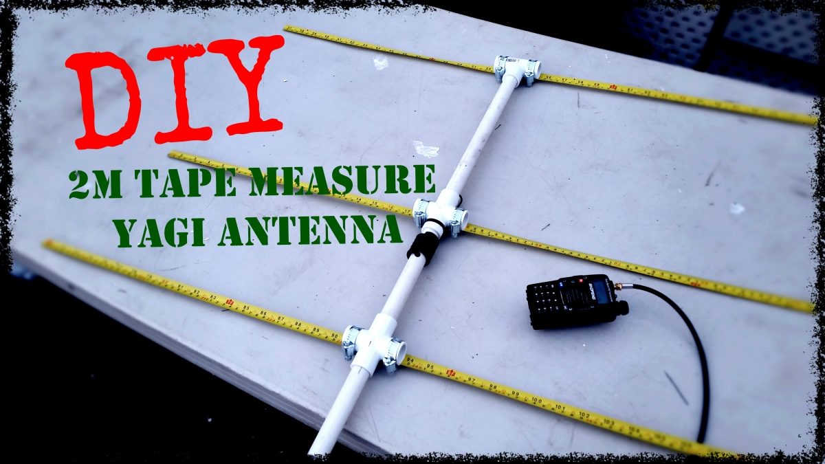Diy 2m Tape Measure Yagi Antenna Everyday Ready