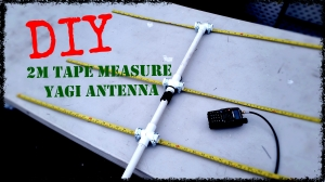 DIY 2m Tape Measure Yagi Antenna