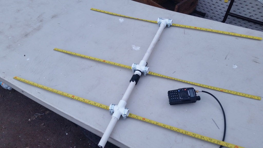 Completed 2m Yagi Antenna
