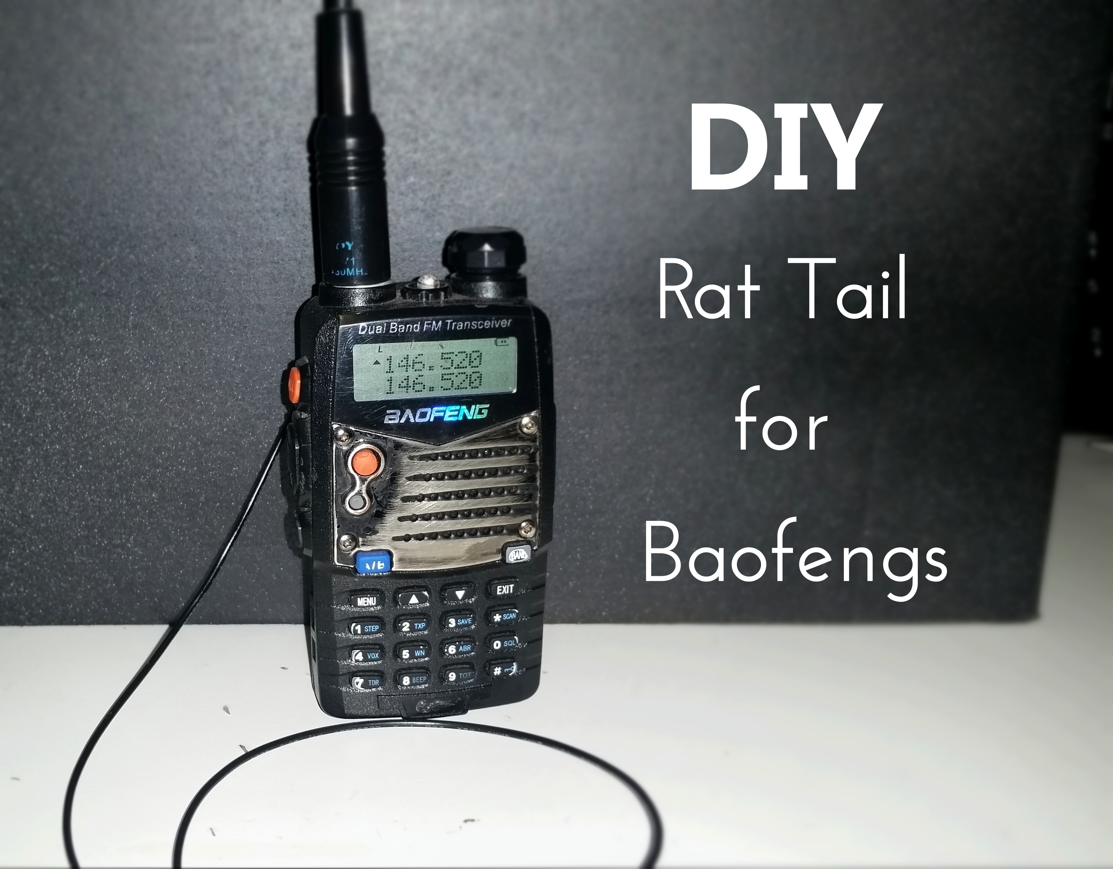 Radio Antenna Booster Diy Active Fm Amplifier By C2570 Rat Tail Tiger Counterpoise For The Baofeng Radios Vhf How To Dramatically